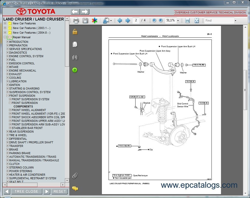 2004 toyota land cruiser repair manual