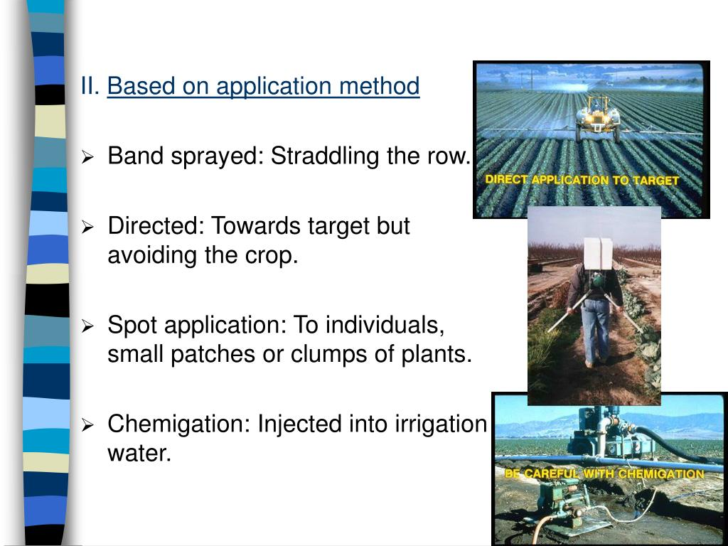 band application of pesticides