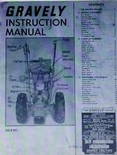 1963 gravely garden tractor parts manual