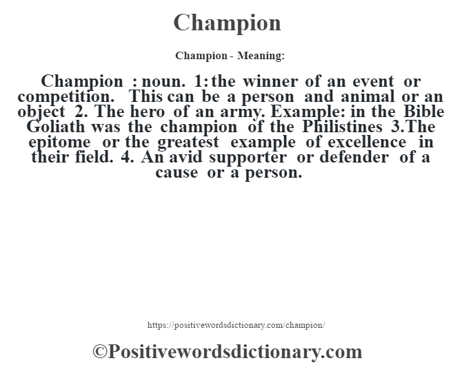 champion definition oxford dictionary