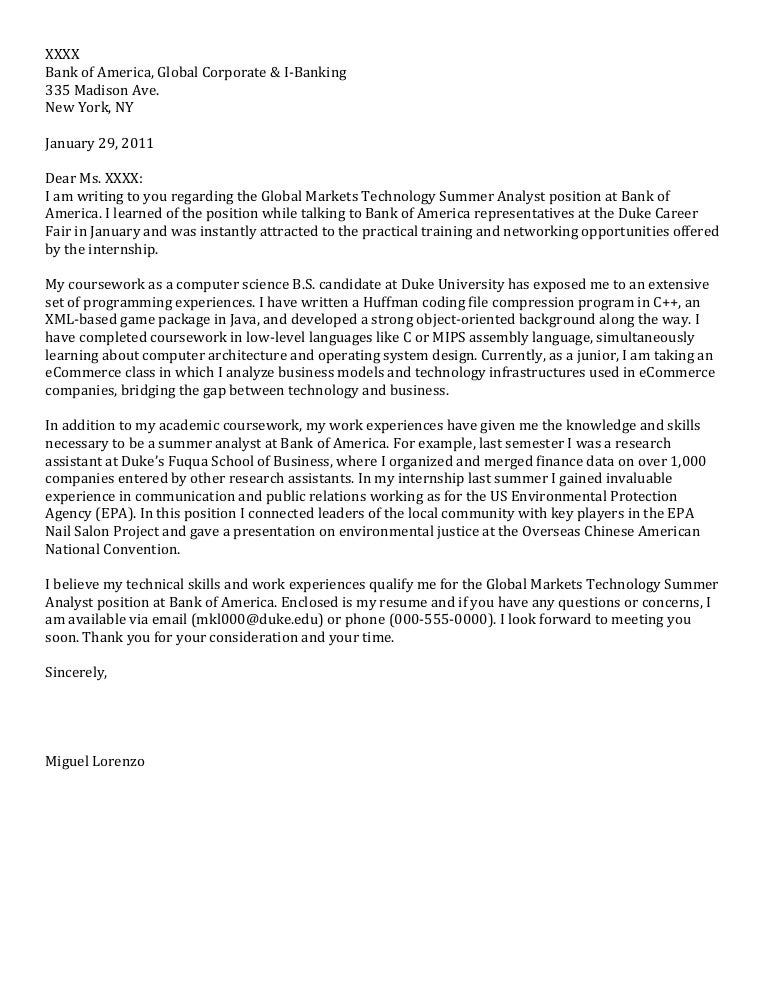 cover letter science industry sample