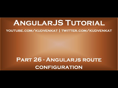 angularjs route sample