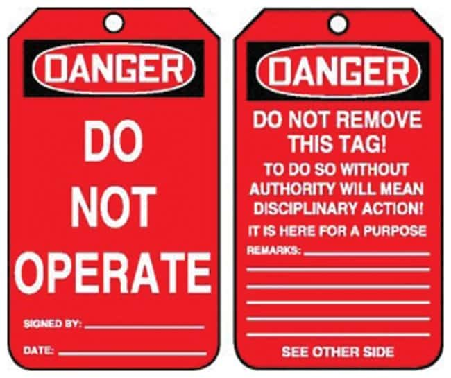 do not operate tag pdf